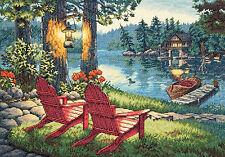 Cross Stitch Kit ~ Gold Collection Twilight's Calm Evening Lake #70-35261