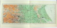 Yorkshire - Bridlington to Kilnses - Large Original 1922 Ordnance Survey Map.