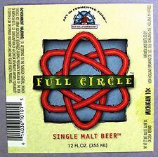 New Holland FULL CIRCLE beer label MI 12 oz