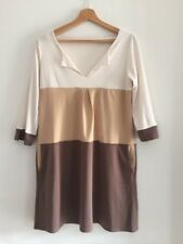 Unbranded Ladies Brown Striped Dress Size XL