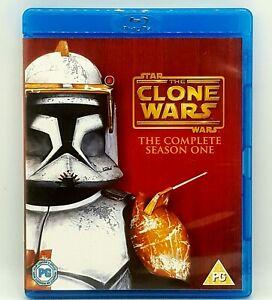 STAR WARS THE CLONE WARS Season 1 BLU-RAY Animation 3 Discs Free Post