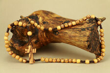 Olive Wood Rosary With Hand Made Olive Wood Cross Holy Land Jerusalem Retail