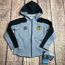 NHL Kids Medium 5/6 Chicago Blackhawks Full Zip Delta Track Jacket New