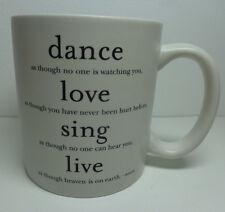 Quotable Coffee Mug Dance Love Sing Live - Souza Inspirational Motivational Gift