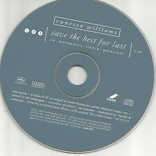 VANESSA WILLIAMS Save the best for last 1991 USA PROMO Radio DJ CD single MINT
