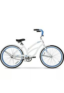 Hyper Bicycles 26 In. Women's Beach Cruiser White Light Weight Aluminum