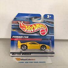 Short Card * Ferrari F40 * Yellow * 2000 Hot Wheels * M2