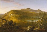 """Oil A View of the Two Lakes and Mountain House, Catskill Mountains, Morning 36"""""""