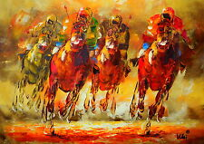 STUNNING HORSE RACING PRINT / PICTURE / PAINTING