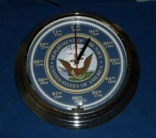 U.S. Navy Blue Neon Clock - 7 Designs with Personalized Option