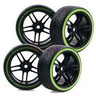 4PCS RC 1/10 Hard Drift Tyre Tires On-Road Drift Car &Wheel Rim 9065-5010