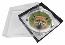 Red Fox Country Wildlife Glass Paperweight in Gift Box Christmas Presen, AF-10PW