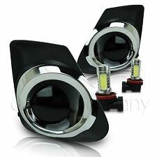 2011-2013 Toyota Corolla Fog Lamps w/Wiring Kit & COB LED Bulbs - Super Smoke