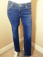"AG Adriano Goldschmied Stilt Cigarette Leg Jeans~Size 28R~Inseam 29"""