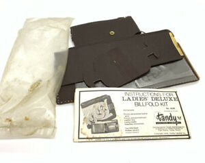 Vintage Tandy Leather Kit - Ladies Deluxe Billfold Kit #4048 - New in Box
