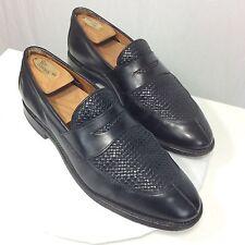 Allen Edmonds Men's 8.5 D Leyland Woven Black Leather Penny Loafers Dress Shoes