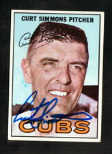 Curt Simmons--Autographed 1967 Topps Baseball Card--Chicago Cubs
