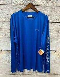 Columbia Performance Shirt Mens Size 3X Blue Rapid Creek Crewneck Shirt New