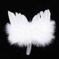 Chic Angel White Feather Wing Christmas Tree Decoration Hanging Ornament Wedding