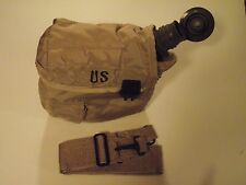 2 QT Collapsible Canteen with NBC Cap 2 Qt Tan Cover with Sling US Military