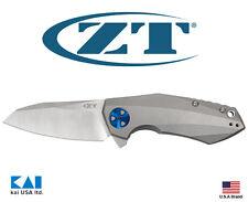 """Zero Tolerance ZT0456 Folding Knife 3.25"""" CTS-204P Titanium Stonewashed Satin"""