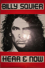 BILLY SQUIER Hear & Now, Capitol promotional poster, 1989, 24x36, VG+