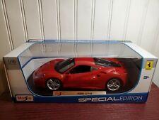 Maisto Ferrari 488 GTB Red Sports Car 1:18 Scale Diecast Model NEW