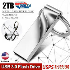 2TB Metal USB 3.0 Flash Drive External Storage Thumb Pendrive Memory U Stick US