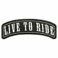 Embroidered Live to Ride Rocker Sew or Iron on Patch Biker Patch