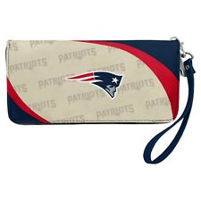 New England Patriots NFL Women's Curve Zip Organizer Wallet / Purse
