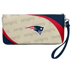 New England Patriots NFL Women's Curve Zip Organizer Wallet / Purse