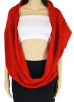 Vince Camuto Women's Knitted Scarf True Red One Size Infinity Loop $48 943