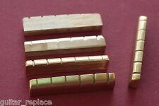 Cejuela Latón 43,5x4,6x9,2 PreCortada Guitarra Eléctrica Acústica Brass Nut
