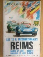 More details for programme - 12 hour international motor race - reims - france 1967 - signed