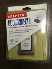 Adaptec Duoconnect For Notebook Combo Firewire & Usb 2.0 Aua-1422 New Sealed