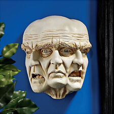 Angry Sad Face Statue Wall Hanging Art Sculpture Medieval Gothic Halloween Decor