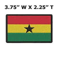 GHANA FLAG embroidered iron-on AFRICAN PATCH SOUVENIR EMBLEM BANNER AFRICA