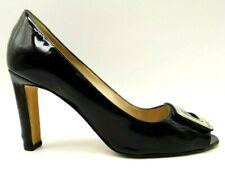 Manolo Blahnik Black Patent Leather Peep Toe Dress Heel Pumps Womens 38 / 8