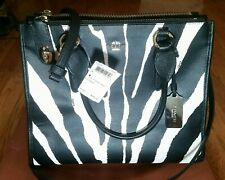 Coach Purse New York New with Tags Zebra Print, Black & White with Gold Trim