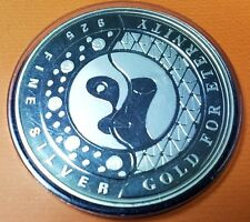2000 Singapore Millennium Gold for Eternity US$1 Trade Dollar Silver Medallion