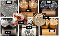 11 UNC 50c Commem 50 cent 2001 2002 2003 2004 2x 2005 2010 2014 2016 2017 2019