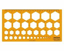 Hexagon Drafting And Design Template Stencil Symbols Drawing Scale-Lino-1872