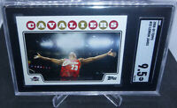 2008-09 Topps Basketball Lebron James Iconic Chalk Toss Card #23 SGC Mint+ 9.5
