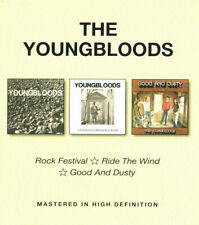 The Youngbloods * Rock Festival / Ride The Wind / Good And Dusty 2 CD BGO