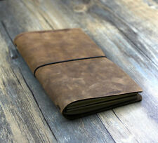 VINTAGE CRAZY Traveler's Notebook Diary Leather Cowhide diary D0407