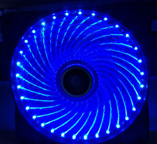 needcool 3 pin 120mm 12cm Azul 32 LUZ LED Ultra Silent Carcasa Chasis Ventilador