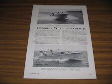 1950 Magazine Photo Beetle Boat BB-24 Ft Cabin Cruiser Boats New Bedford,MA