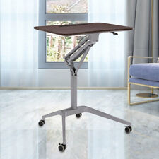 New listing Height Adjustable Mobile Rolling Laptop Desk Stand Portable Over Bed Sofa Table