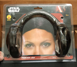Disney Star Wars Princess Leia Bun Hairstyle Headband RUBIES 8230 NEW