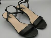 "UNLISTED Black 2.5"" HEEL WOMENS SHOES 9 M Open Toe Ankle Strap"